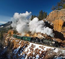 Winter San Juan Passenger Train by Ken Smith