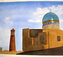 Bukhara skyline by taariqhassan