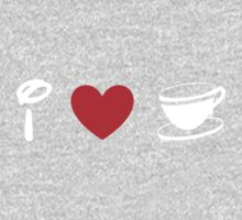 I Heart Tea Cups (Classic Logo) (Inverted) Kids Clothes