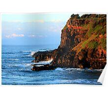 Sunrise Boulder Beach - Skennars Head NSW Poster