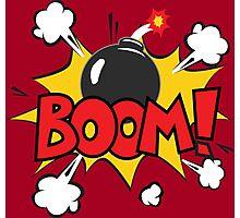 COMIC BOOK: BOOM BOMB! Photographic Print