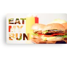 Classic Hamburgers with typography  Canvas Print