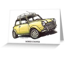 Moris Mini Cooper Car Greeting Card