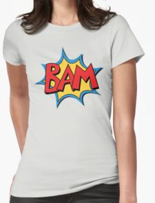 COMIC BOOK: BAM! Womens Fitted T-Shirt