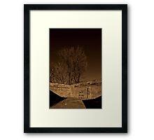 Foundation in Sepia Framed Print