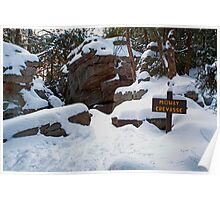 Winter Twilight at Midway Crevasse Poster