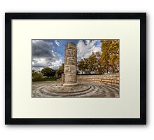 Monument To The Peoples Struggles Framed Print