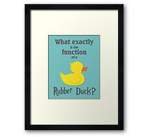Function of a Rubber Duck Framed Print
