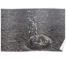 Small stone - Big splash Poster
