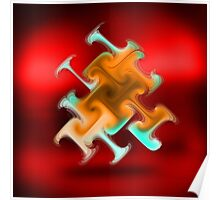 Abstract Art Trumpeter Poster