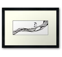 Bird sat on branch Framed Print