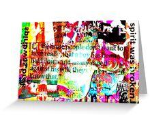 Graphic Novella Two Greeting Card
