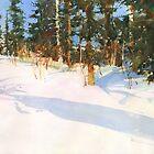 Making the way through the snowdrifts by Sergei Kurbatov