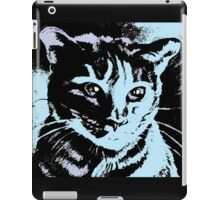 Cool Cat Graphic ~ black, blue and lavender iPad Case/Skin