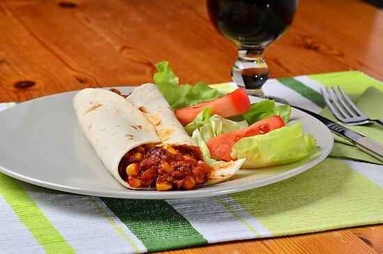 Vegetarian fajitas by 7horses