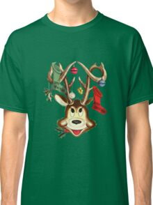 Reindeer Antlers and Christmas Stockings Classic T-Shirt
