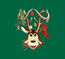 Reindeer Antlers and Christmas Stockings Womens Fitted T-Shirt