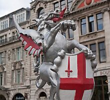 St Georges Dragon statue in london by Keith Larby
