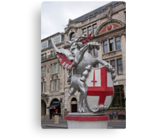 St Georges Dragon statue in london Canvas Print