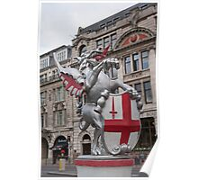 St Georges Dragon statue in london Poster