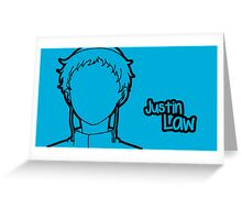 Justin Law silhouette print Greeting Card