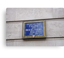 Tilers & bricklayers Hall sign Canvas Print