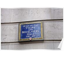 Tilers & bricklayers Hall sign Poster