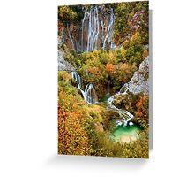 Plitvice Lakes in Croatia Greeting Card