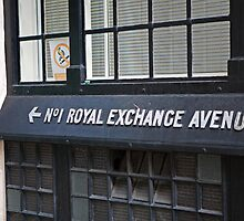 No 1 Royal Exchange Avenue Wall sign by Keith Larby