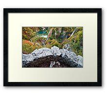 Plitvice Lakes Vantage Point Framed Print