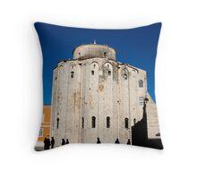 St. Donatus Church in Zadar Throw Pillow