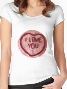Sweet Love Heart - I Love You Women's Fitted Scoop T-Shirt