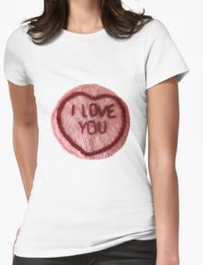 Sweet Love Heart - I Love You Womens Fitted T-Shirt