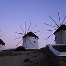 Windmills at Mykonos by Paige