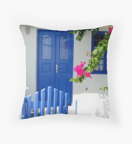 Welcome to Mykonos Throw Pillow