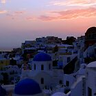 Sunset over Oia II by Paige