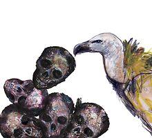 vulture & skulls by patricia shrigley
