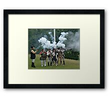 Musket Fire to Celebrate Independence Day Framed Print