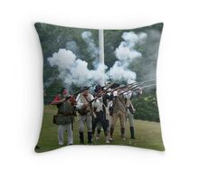 Musket Fire to Celebrate Independence Day Throw Pillow