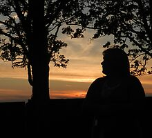 The Beautiful sunset silhouette by kelly-m-wall