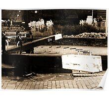 Canal Locks in Stratford-Upon-Avon Poster