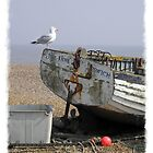 Old Boat Aldeburgh Beach Suffolk  by AndyLanhamArt