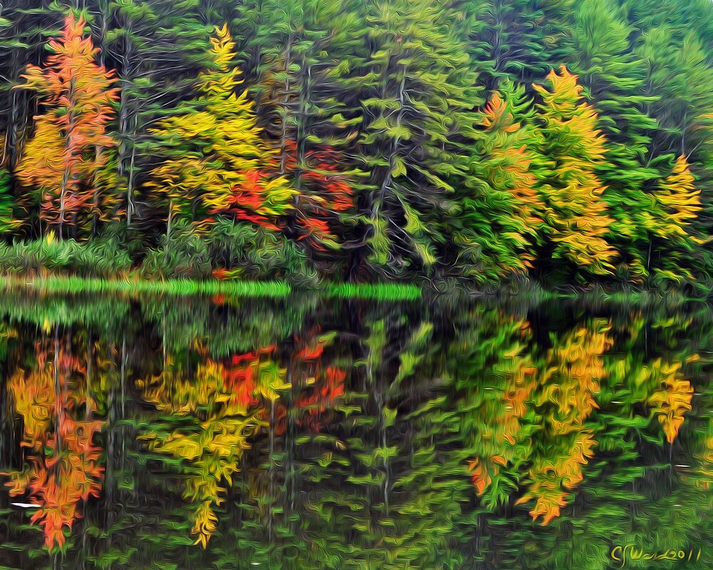 Mother Nature Paints With Watercolors II by Caleb Ward