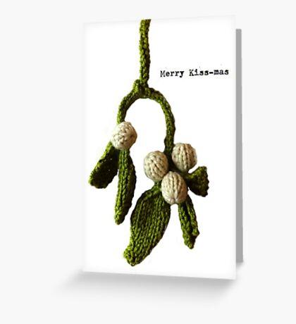 Merry Kiss-mas  Greeting Card