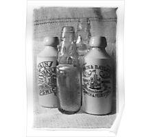 Vintage Victorian Bottles   Poster