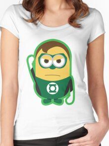 Despicable Me Minions Superheros Green Lantern Women's Fitted Scoop T-Shirt