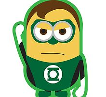 Despicable Me Minions Superheros Green Lantern by dorothy w Jones