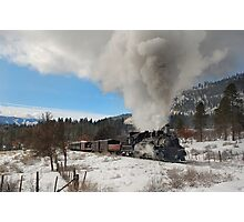 Winter Mixed Freight to Rockwood Photographic Print
