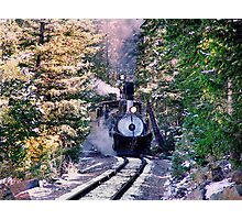Colorado & Southern #9 steams up on the Georgetown Loop  Photographic Print