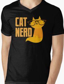 CAT NERD (professional vet or self-proclaimed expert on cats!) Mens V-Neck T-Shirt